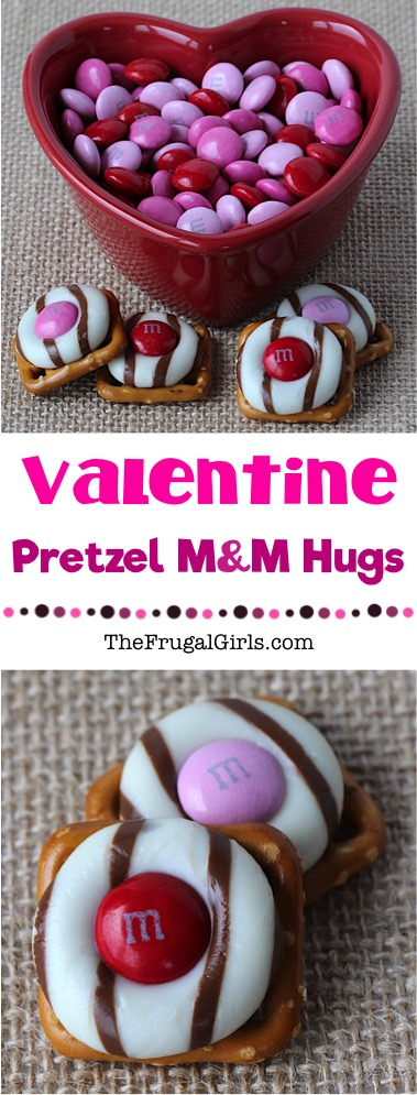 Valentine Pretzel Hug Treats Recipe at TheFrugalGirls.com