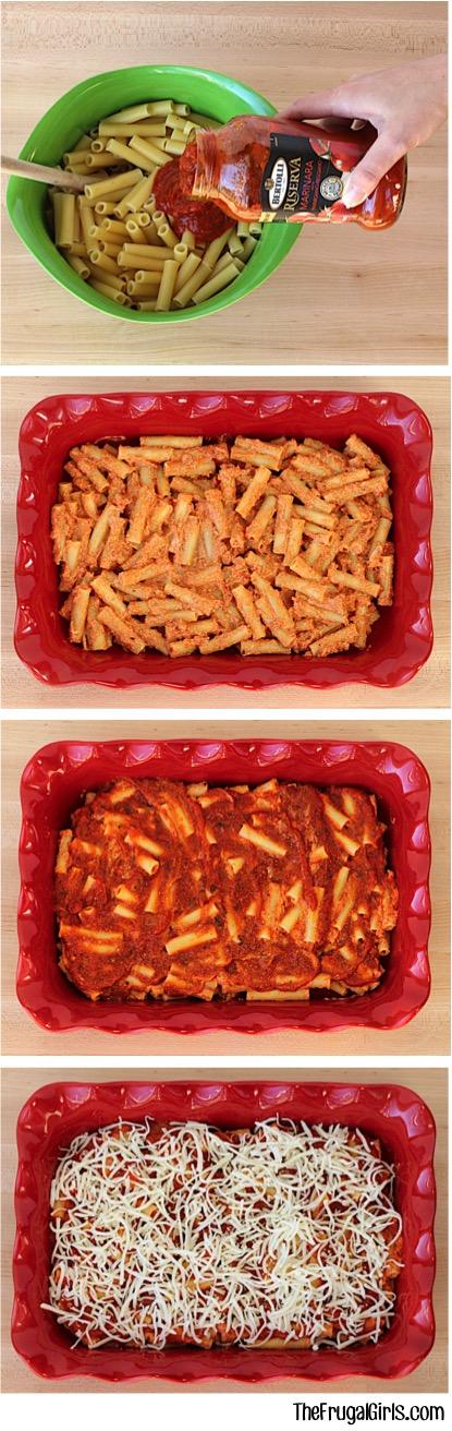 Easy Baked Ziti Recipe from TheFrugalGirls.com