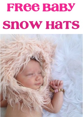 Free Baby Snow Hats at TheFrugalGirls.com