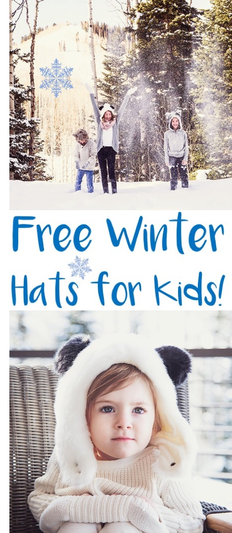 Kids Winter Fashion | These Free Cozy Hats are the perfect accessory to Winter Outfits for Boys and Girls