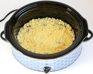 Crock Pot Lemon Blueberry Dump Cake Recipe