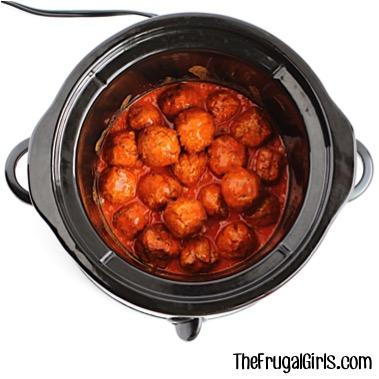 Crock Pot Buffalo Ranch Meatball Recipe from TheFrugalGirls.com