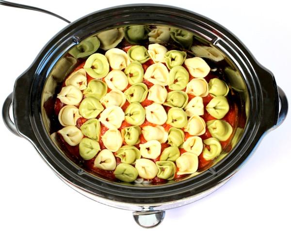 Crockpot Cheesy Tortellini Recipe