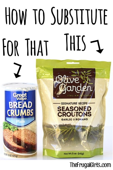 Easy Substitute for Bread Crumbs from TheFrugalGirls.com