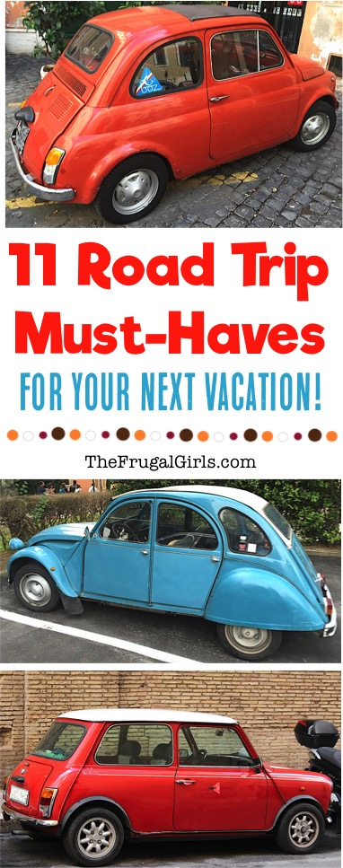 Road Trip Must Haves for your Next Vacation from TheFrugalGirls.com