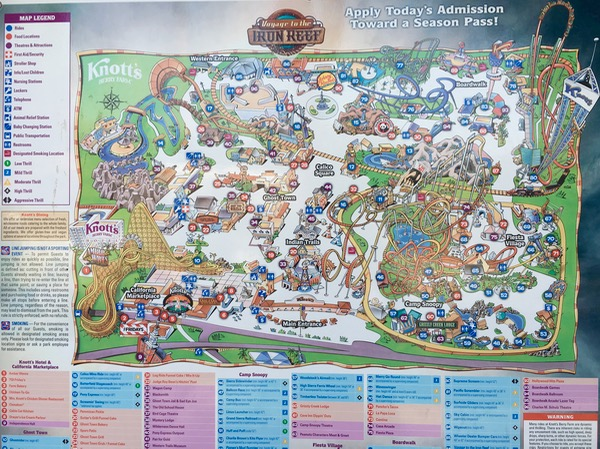 Knotts Berry Farm Tips and Map at TheFrugalGirls.com