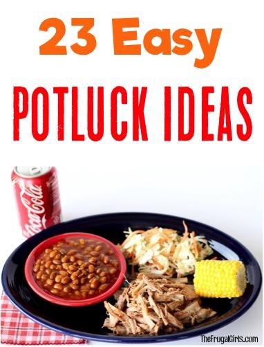 Easy Poltuck Ideas at TheFrugalGirls.com
