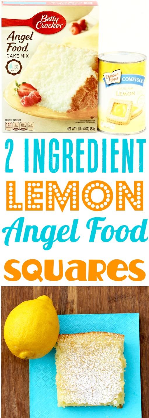 Lemon Angel Food Cake Squares Recipe Easy Desserts