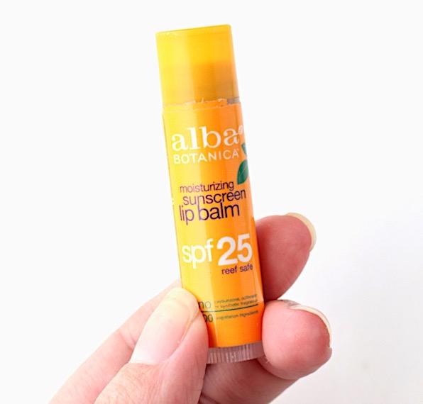 Natural SPF lip balm