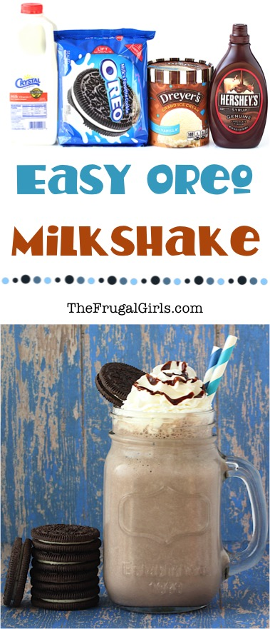 Thick Oreo Milkshake Recipe from TheFrugalGirls.com