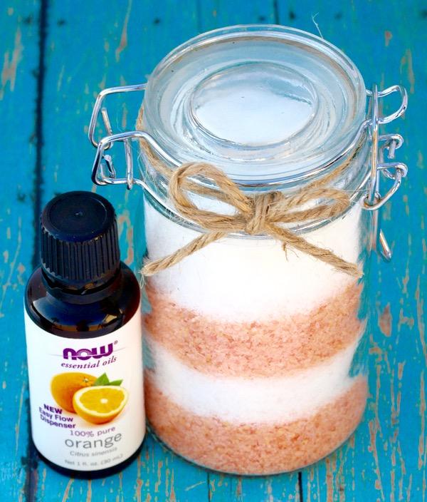 Orange Vanilla Bath Salts Recipe DIY - Creamsicle Swirl - from TheFrugalGirls.com