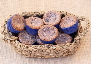 Blueberry Angel Food Cupcakes {2 Ingredients} from TheFrugalGirls.com
