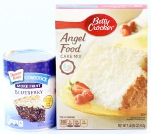 Blueberry Angel Food Dessert Recipe from TheFrugalGirls.com