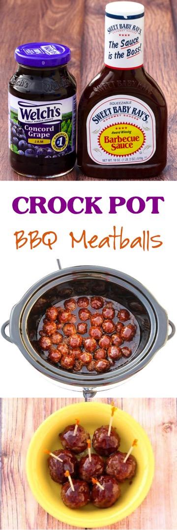 Crock Pot Barbecue Meatballs Recipe from NeverEndingJourneys.com