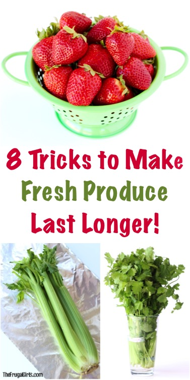 How to Make Fresh Produce Last Longer - Tips from TheFrugalGirls.com