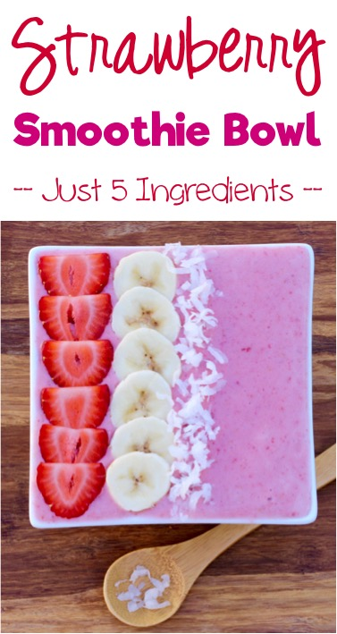 Strawberry Smoothie Bowl Recipe from TheFrugalGirls.com