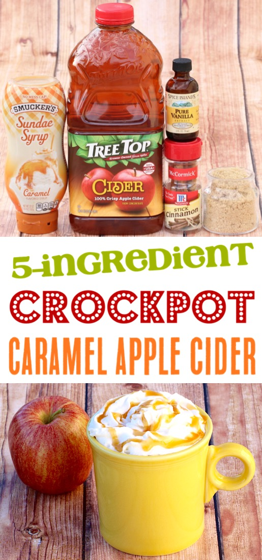 Crockpot Apple Cider Easy Recipe with Caramel