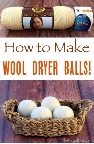 How to Make Wool Dryer Balls - Tutorial at TheFrugalGirls.com