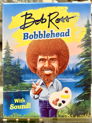 A Bob Ross Bobblehead With Sound