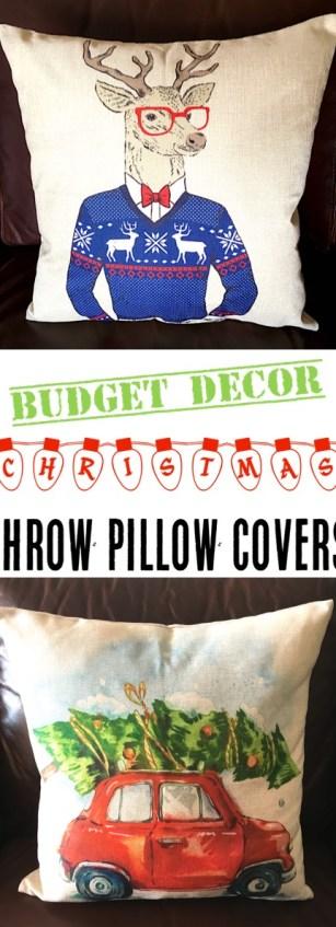 Christmas Throw Pillow Covers on Sale