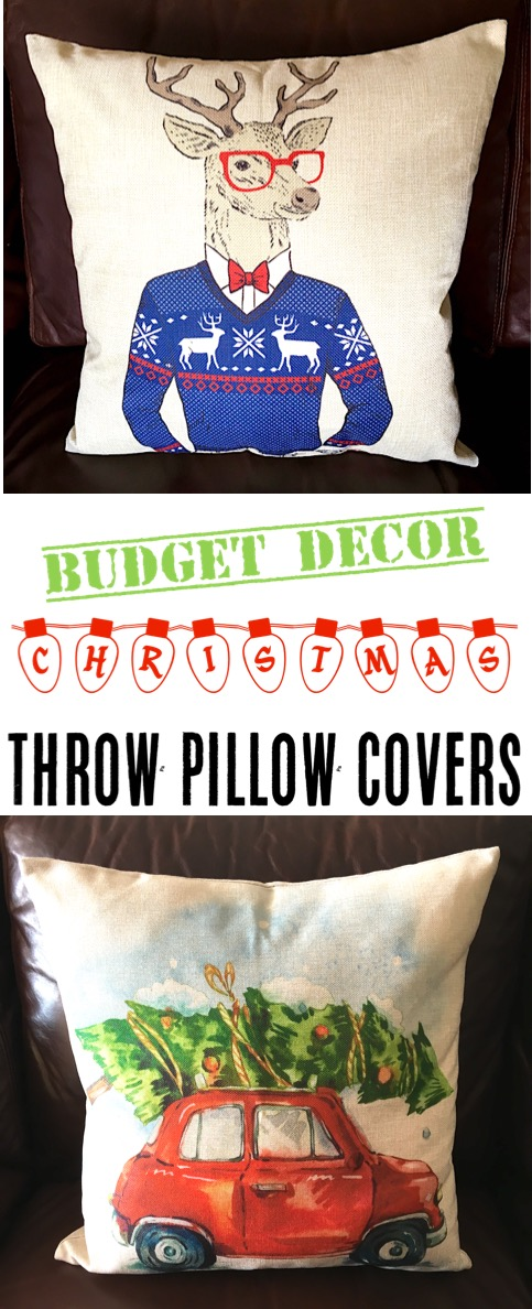 Christmas Throw Pillows for Couch or Bed