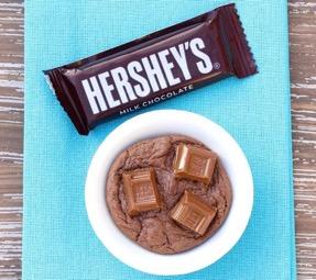 Easy Hershey Cookie Recipe at TheFrugalGirls.com
