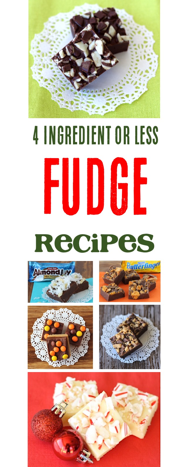 4 Ingredient Fudge Recipes at TheFrugalGirls.com
