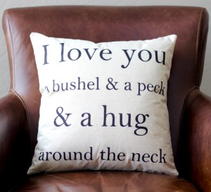 Love Decorative Throw Pillow Covers