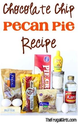 Chocolate Chip Pecan Pie Recipe at TheFrugalGirls.com