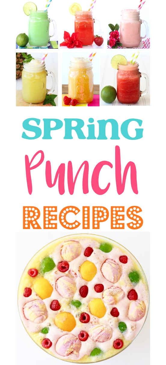 Spring Punch Recipes at TheFrugalGirls.com