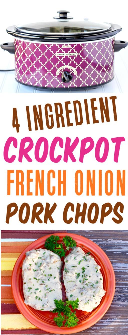 Crockpot Pork Chops Easy Recipe French Onion