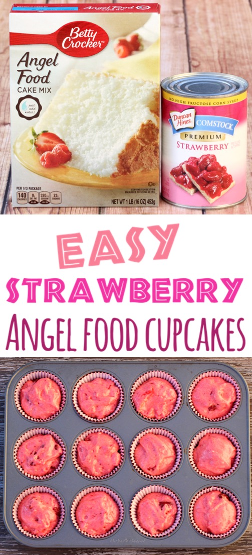 Angel Food Cake Recipes - Easy Desserts with Strawberries Cupcake Recipe