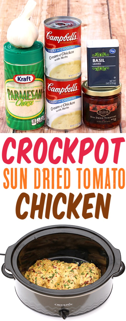 Crockpot Chicken Recipes Easy Sun Dried Tomato Slow Cooker Chicken Dinner