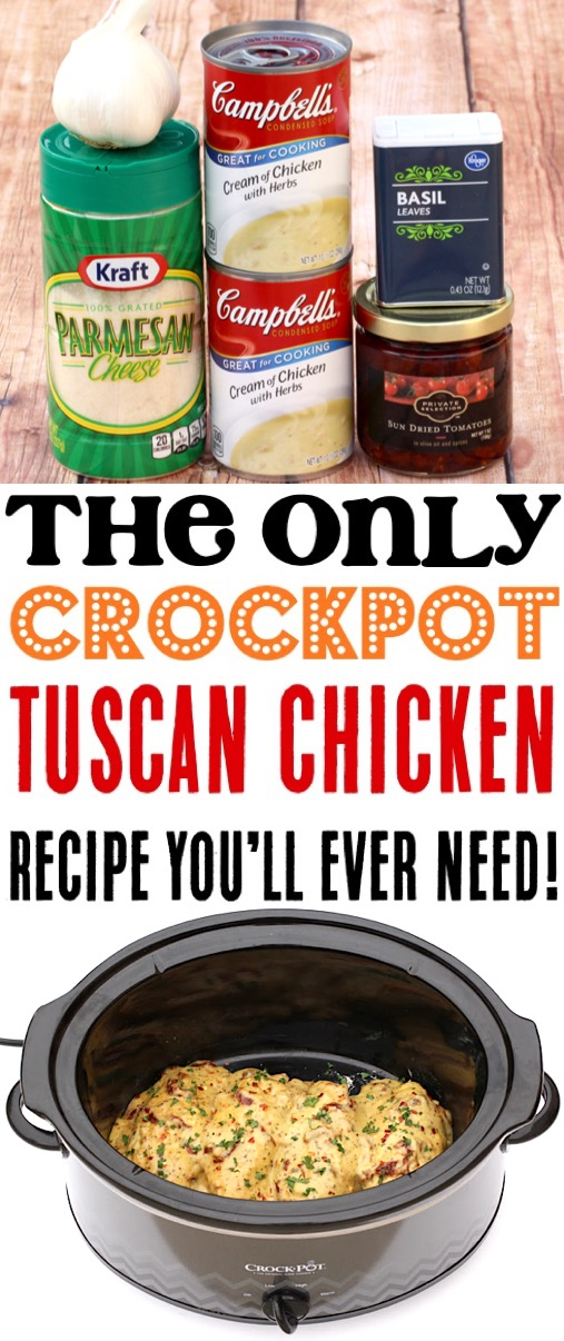 Crockpot Tuscan Chicken Recipes Easy Crock Pot Sun Dried Tomato Chicken Recipe - Perfect for Serving Over Pasta