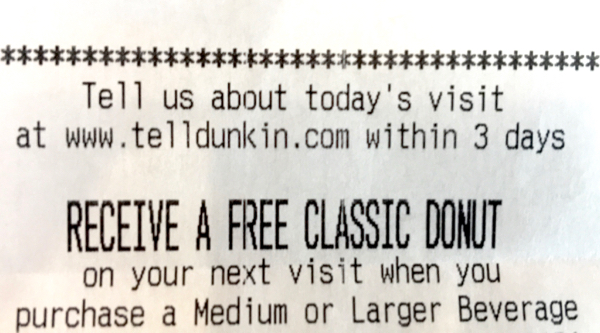 Dunkin Donuts Free Donuts