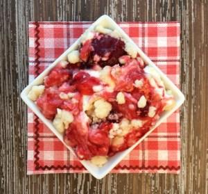 Strawberry Cheesecake Dump Cake Recipe! {4 Ingredients} from TheFrugalGirls.com