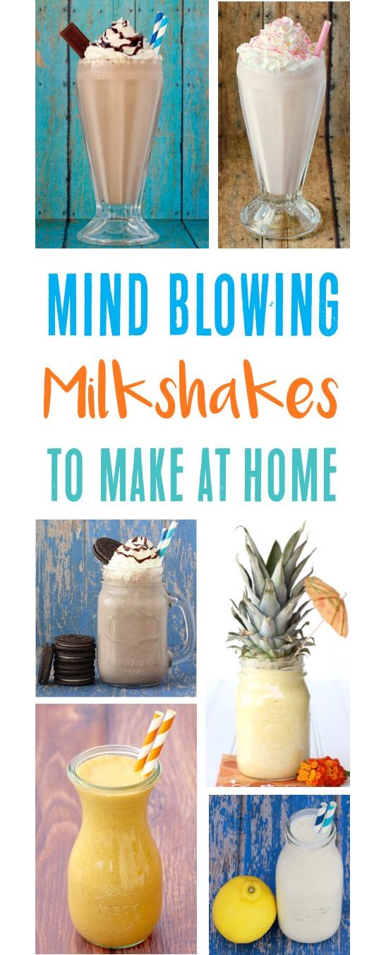 Easy Milkshake Recipes from TheFrugalGirls.com