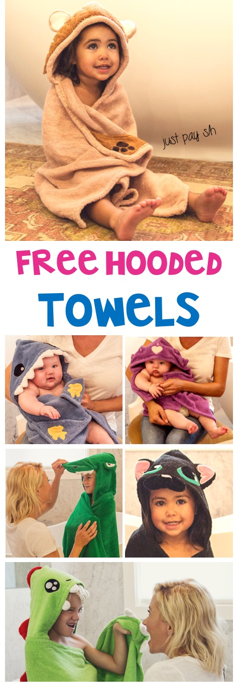 Free Hooded Towels for Babies and Kids