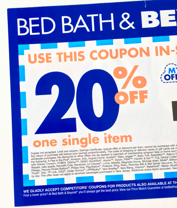 Bed Bath and Beyond Shopping Hacks