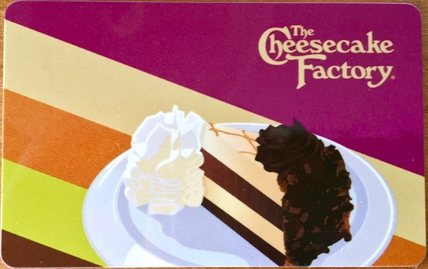 Cheesecake Factory Gift Card Free Slice