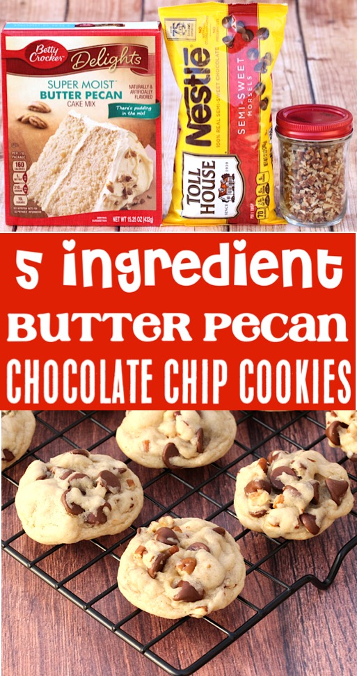 Cake Mix Cookies Recipes Easy Chocolate Chip Pecan Cookie Recipe