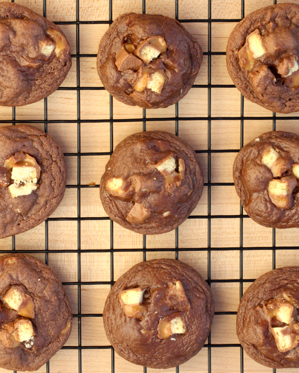 Easy Twix Cookies Recipe from TheFrugalGirls.com