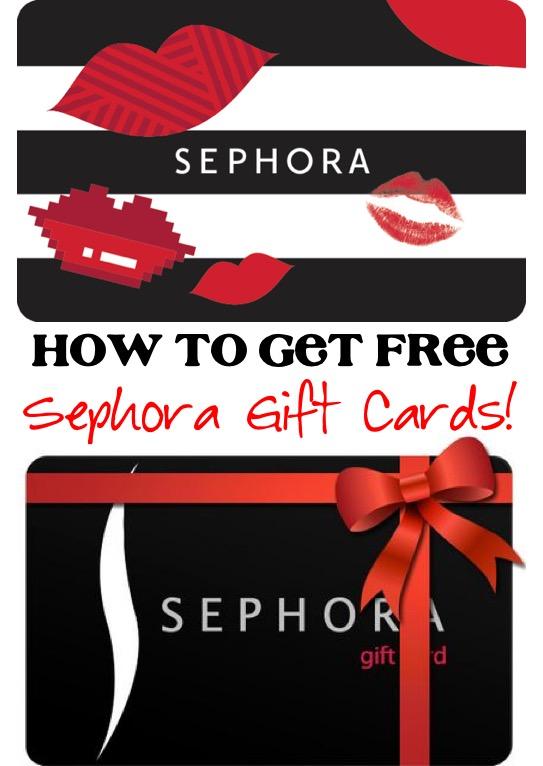 Free Sephora Gift Cards