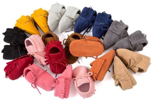 Free Suede Baby Moccasins at TheFrugalGirls.com