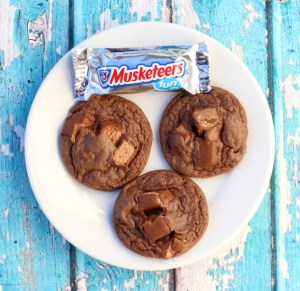 Easy Candy Bar Cookies Recipe! {3 Musketeers} - TheFrugalGirls.com