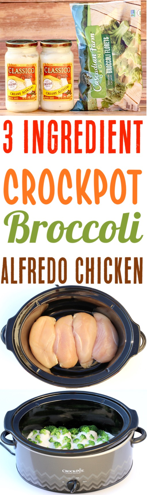 Crockpot Alfredo Chicken with Broccoli Recipe - Easy Slow Cooker Dinner Recipe