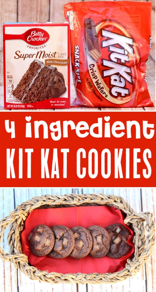 Chocolate Cake Mix Cookies Recipes Kit Kat Cookie Recipe