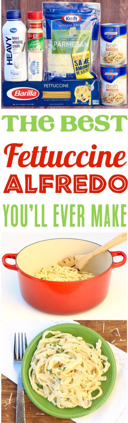 Fettucini Alfredo Recipe Easy Olive Garden Copycat One Pot Dinner Recipe