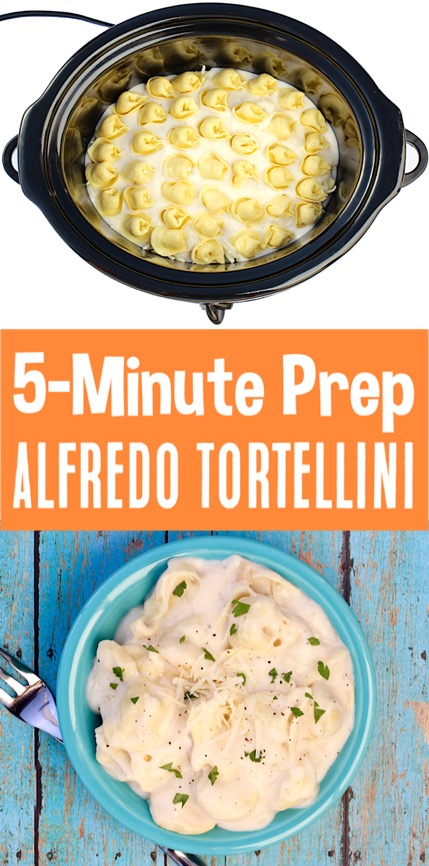 Alfredo Pasta Recipes - Easy Creamy Crockpot Tortellini Recipe