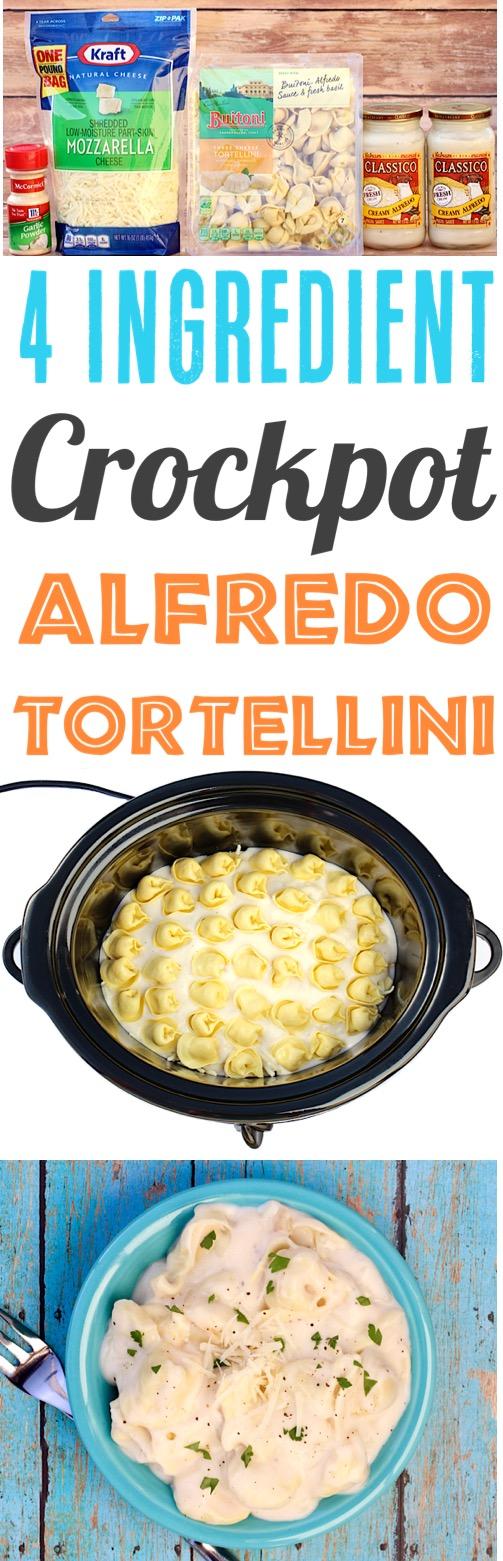 Crockpot Alfredo Tortellini Pasta Recipe